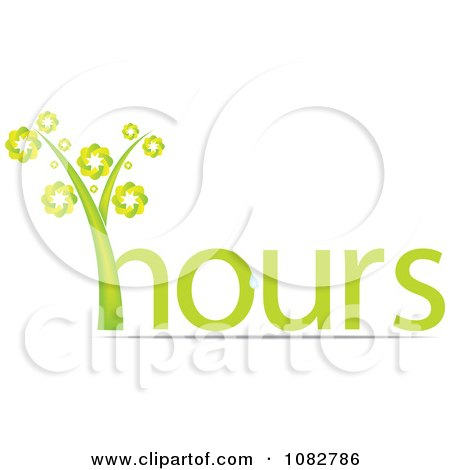 Clipart Green Hours Plant - Royalty Free Vector Illustration by Andrei Marincas