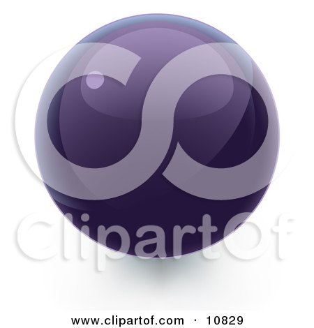 Purple 3D Sphere Internet Button Posters, Art Prints