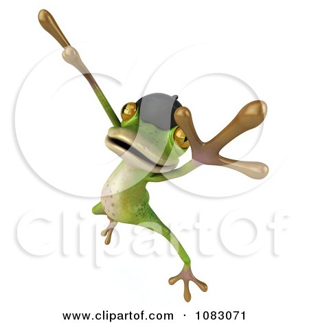 Clipart 3d French Springer Frog Dancing 3 - Royalty Free CGI Illustration by Julos