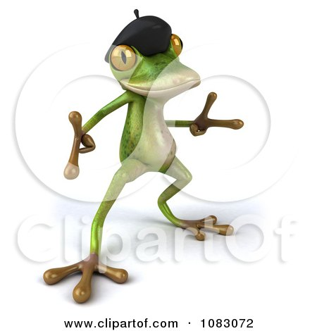 Clipart 3d French Springer Frog Dancing 4 - Royalty Free CGI Illustration by Julos