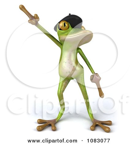Clipart 3d French Springer Frog Dancing 1 - Royalty Free CGI Illustration by Julos