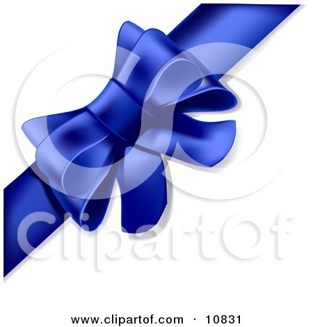 Gift Present Wrapped With a Ribbon Tied Into a Bow Clipart Illustration by Leo Blanchette