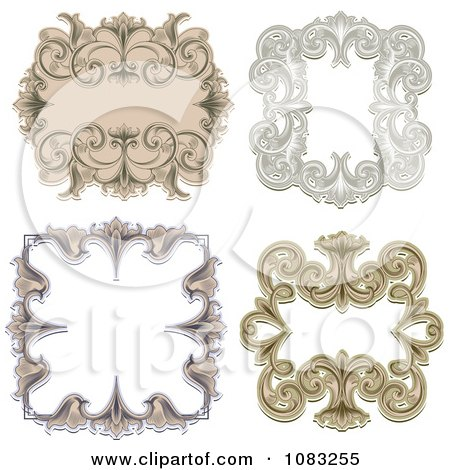 Clipart Ornate Vintage Frame Borders - Royalty Free Vector Illustration by vectorace