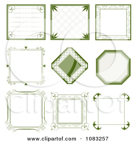Clipart Green Vintage Frames - Royalty Free Vector Illustration by vectorace