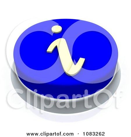 Clipart 3d Blue i Information Button - Royalty Free CGI Illustration by Jiri Moucka