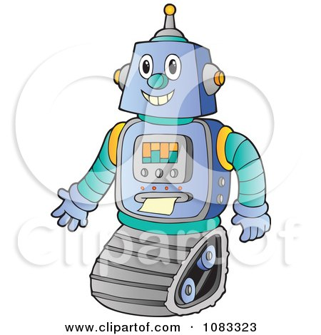 Clipart Futuristic Robot - Royalty Free Vector Illustration by visekart