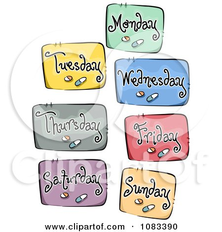 Clipart Daily Meds Icons - Royalty Free Vector Illustration by BNP Design Studio