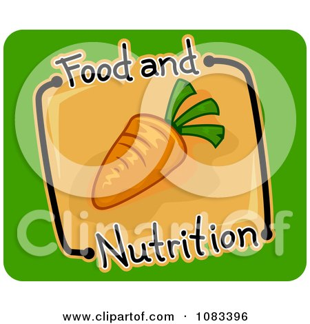 Clipart Nutrition Carrot Icon - Royalty Free Vector Illustration by BNP Design Studio
