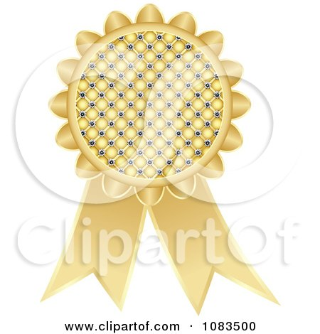 Clipart Gold Medal Award Ribbon - Royalty Free Vector Illustration by Andrei Marincas