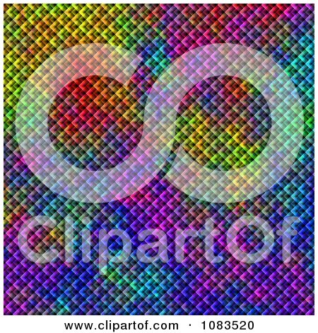 Clipart Textured Metal Mesh Kaleidoscope Background - Royalty Free CGI Illustration by oboy