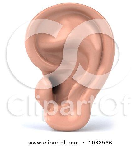 Clipart 3d Human Ear - Royalty Free CGI Illustration by Julos