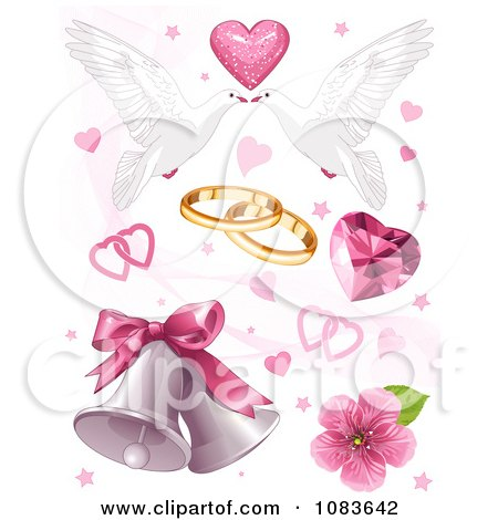 Png Wedding Clipart Clipart Wedding Doves Hearts