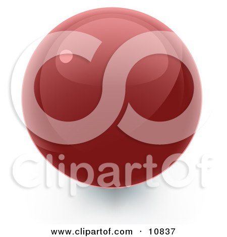 Red 3D Sphere Internet Button Posters, Art Prints