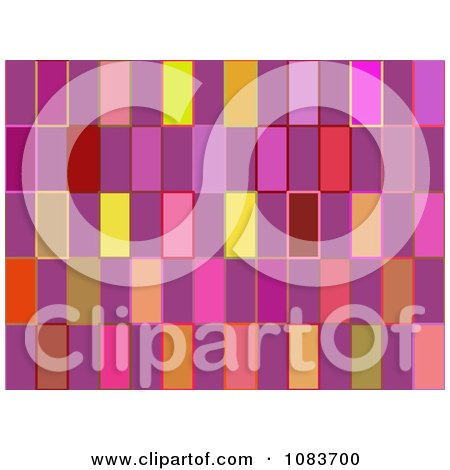 Clipart Seamless Retro Pink Rectangle Pattern Background - Royalty Free Illustration by chrisroll