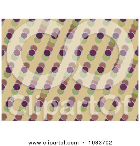Clipart Seamless Retro Circle Diagonal Pattern Background - Royalty Free Illustration by chrisroll