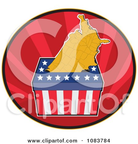 Clipart Presidential Election Ballot Box And Usa Map - Royalty Free Vector Illustration by patrimonio