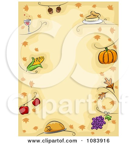 Royalty Free Rf Clipart Of Thanksgiving Borders