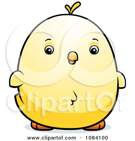 Clipart Chubby Chicken Chick - Royalty Free Vector Illustration by Cory Thoman