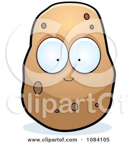 Clipart Big Eyed Potato Character - Royalty Free Vector Illustration by Cory Thoman