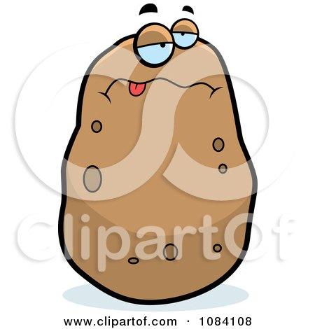 Clipart Sick Potato Character - Royalty Free Vector Illustration by Cory Thoman
