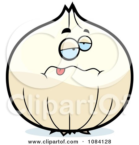 Clipart Sick White Onion Character - Royalty Free Vector Illustration by Cory Thoman