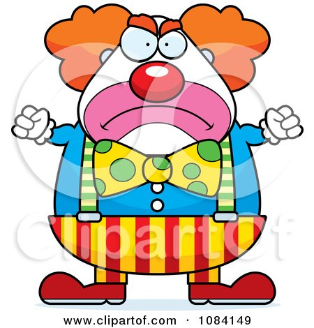 Clipart Angry Chubby Circus Clown - Royalty Free Vector Illustration by Cory Thoman