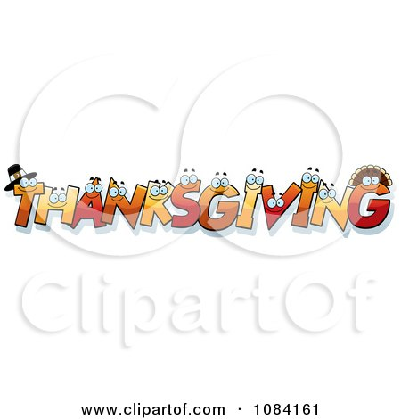 Clipart Thanksgiving Letter Characters - Royalty Free Vector Illustration by Cory Thoman