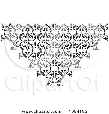 Clipart Black And White Vintage Design Element 2 - Royalty Free Vector Illustration by BestVector