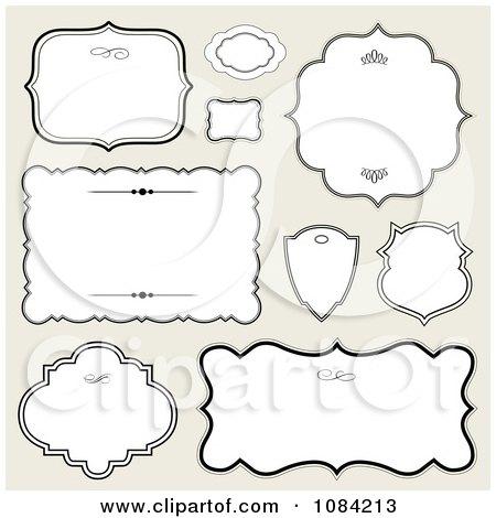 Clipart White Black Frames On Gray - Royalty Free Vector Illustration by BestVector