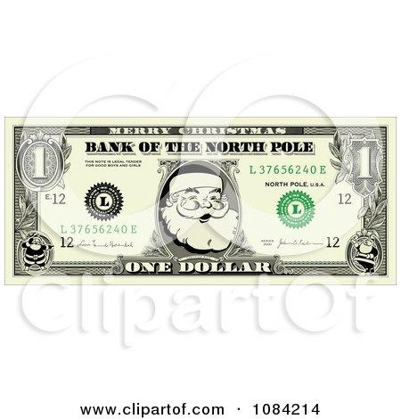 Clipart Santa Dollar Bill - Royalty Free Vector Illustration by BestVector