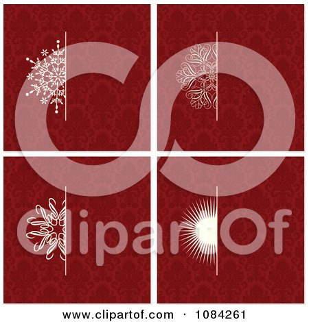 Clipart White Snowflake And Sun Invitation Backgrounds - Royalty Free Vector Illustration by BestVector