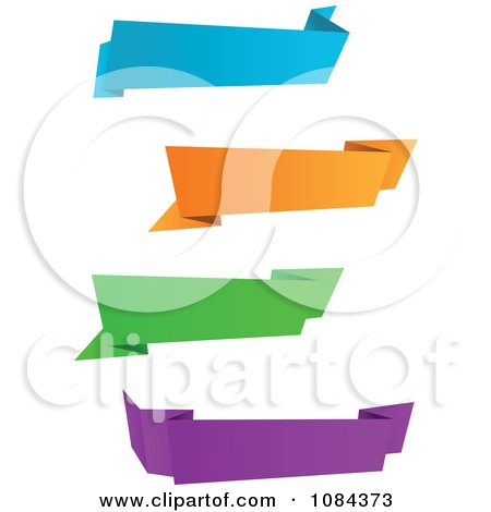 Clipart Colorful Origami Paper Banners 2 - Royalty Free Vector Illustration by Vector Tradition SM