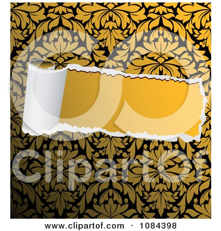 Clipart Torn Paper Revealing Solid Yellow - Royalty Free Vector Illustration by Vector Tradition SM