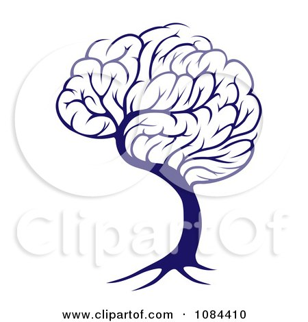 Blue Brain Tree Posters, Art Prints