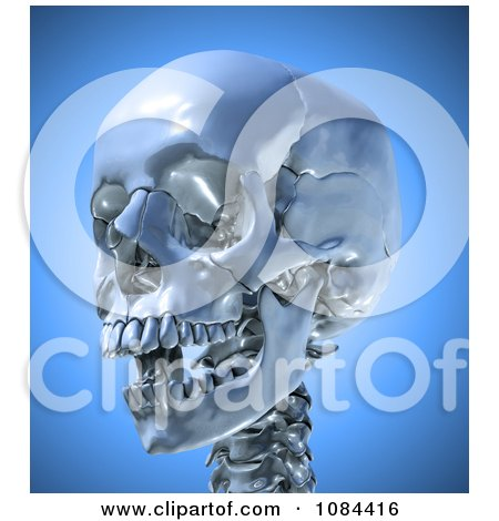 Clipart 3d Skull With An Open Mouth - Royalty Free CGI Illustration by Mopic