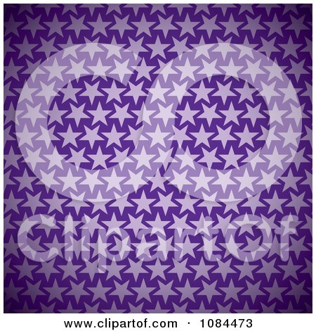 Clipart Purple Star Pattern Background - Royalty Free Vector Illustration by michaeltravers