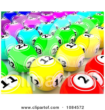 Clipart 3d Colorful Gambling Lottery Or Bingo Balls 2 - Royalty Free CGI Illustration by KJ Pargeter