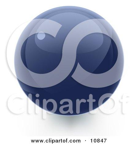 Blue 3D Sphere Internet Button Posters, Art Prints