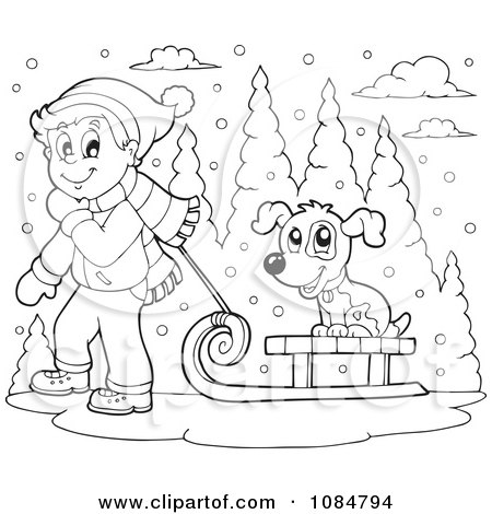 snow dog coloring pages - photo#28