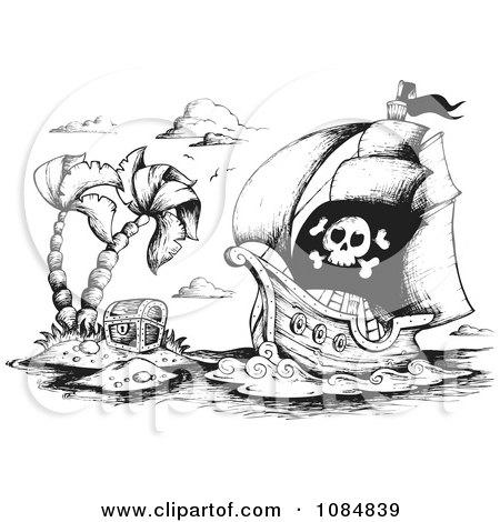 Эскиз пиратской карты