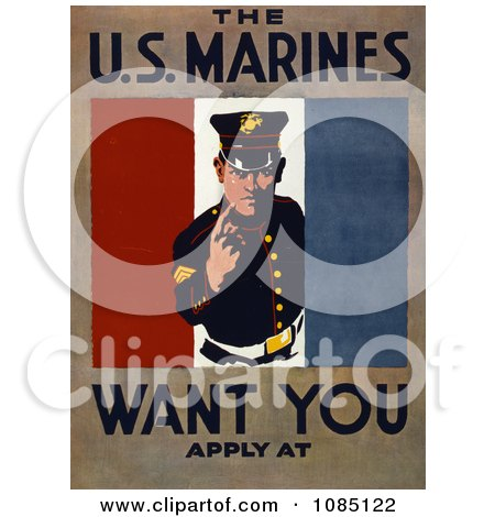 US Marines Recruiting - Free Stock Illustration by JVPD