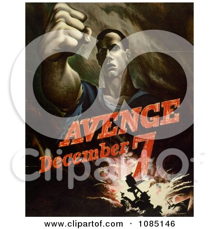 Avenge December 7, Attack on Pearl Harbor Posters, Art Prints