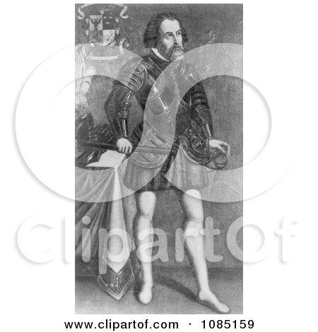 Hernando Cortes - Royalty Free Stock Illustration by JVPD