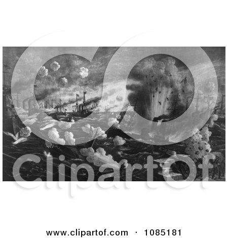 The Battle of Manila Bay 1898 - Royalty Free Stock Illustration by JVPD