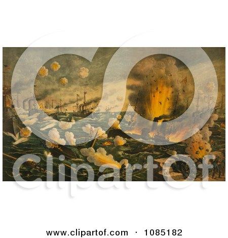 Battle of Manila Bay - Royalty Free Stock Illustration by JVPD
