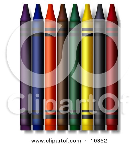 Colorful Crayons Posters, Art Prints