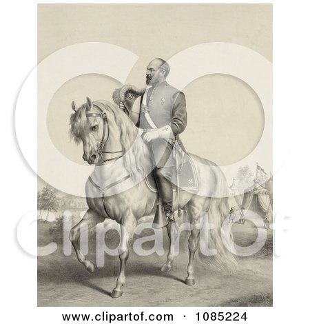 General James Garfield on a Horse - Royalty Free Stock Illustration by JVPD