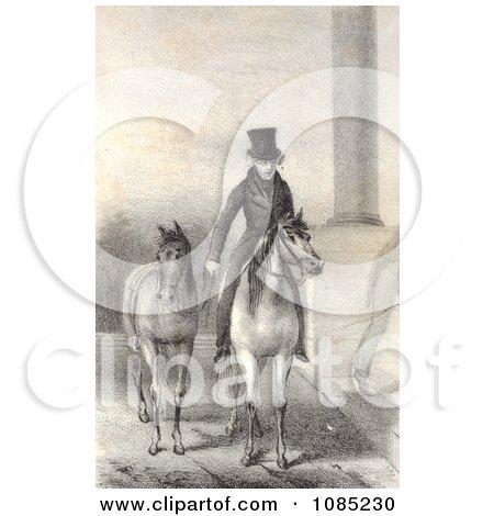 Andrew Jackson on Horseback - Royalty Free Stock Illustration by JVPD