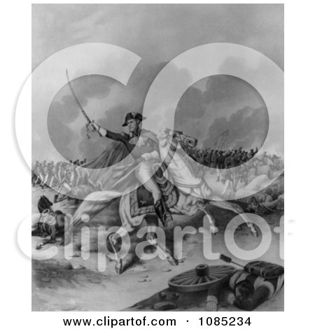 General Andrew Jackson, Battle of New Orleans - Royalty Free Stock Illustration by JVPD