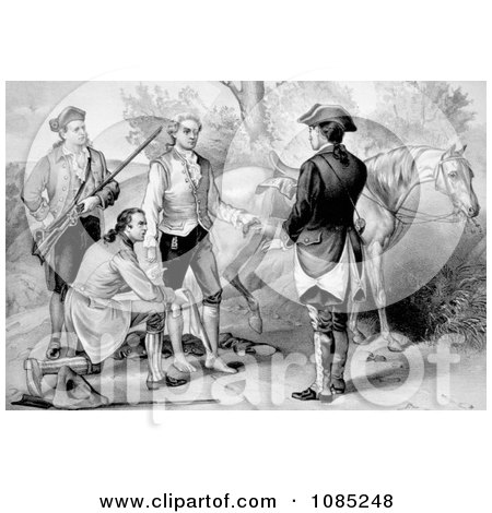 The Capture of John Andre - Royalty Free Stock Illustration by JVPD